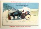 CHROMO IMAGE BLECAO CHARIOT CHAR ASIE MINEURE BOEUF BOEUFS ANIMAL LES MOYENS DE TRANSPORT BLEDINE - Trade Cards