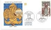 Env Fdc 10/11/67 Paris, N°1539, Saint Louis, Louis IX, Fleur De Lys,  Justice - 1960-1969