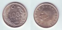 Turkey 100 Lira 1988 - Turquie