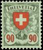 Suisse 0208* - 90c Ecusson - H - Zumstein 163