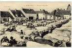 Carte Postale Ancienne Rouvray - Un Jour De Foire - Marché Aux Boeufs - France