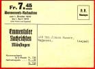Emmentaler Nachrichten Münsingen / Nachnahme - 1942 - Limpach - Alimentation