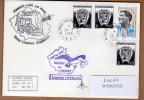 TAAF PLI CROZET TP 406 + 322 X3  Obl. 24 3 2006 Avec Cachets GP 43ème + Tienbé Raid Signé. Voir Photo. - Terres Australes Et Antarctiques Françaises (TAAF)