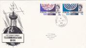 First Day Cover - Commemorative - Great Britain - International Telecommunications Union 1965 - 1952-1971 Em. Prédécimales