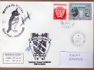 TAAF PLI ST PAUL ET AMSTERDAM TP 433 + 324 Obl. 1 12 2007 Cachets 59 ème Mission 2 Signatures. Voir Photo. - Terres Australes Et Antarctiques Françaises (TAAF)