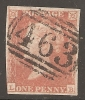 Grande-Bretagne (GB) Victoria 1841 - Penny Rouge Pl.115 LB - 1840-1901 (Viktoria)