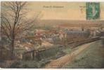 CPA 60 PONT SAINTE MAXENCE Vue Générale Carte Toilée Couleur 1911 - Pont Sainte Maxence