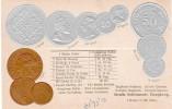 VINTAGE, Hongkong, Straight Settlement, Münzen/Coins Embossed, Walter Erhard Postcard / Karte - Coins (pictures)