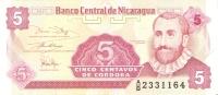 BILLETE DE NICARAGUA DE 5 CENTAVOS   (BANKNOTE)  SIN CIRCULAR - Nicaragua
