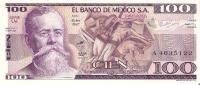 BILLETE DE MEXICO DE 100 PESOS (BANKNOTE)  SIN CIRCULAR - México