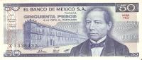BILLETE DE MEXICO DE 50 PESOS (BANKNOTE)  SIN CIRCULAR - México