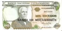BILLETE DE MOZAMBIQUE DE 1000 ESCUDOS  DEL AÑO 1972  (BANKNOTE) - Mozambique