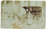 Distributeur J.DAVIGNON Rue LEVIS 25 Avec Cheval Carte Photo En Mauvaise Condition Env. 1908 - Transport Urbain En Surface
