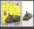 KOREA,1988, Juvalux 88; TRAIN, Locomotive,Ligne De Chemin De Fer Belgique; Michel N° 2907, Neuf ** Bord De Feuille; TTB - Trains