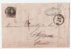 L LIEGE  14 XII 1860 Vers SPA  Déroutée Vers STAVELOT (cfr Verso) - Belgium