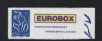 Marianne Lamouche UN (1) Personnalise Adhésif 0.55€ Bleu Grande Vignette 3802 D** BDF - Personalized Stamps