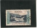"YVERT ET TELLIER - 1954 - N° 33 - POSTE AERIENNE - PROTOTYPES - BREGUET ""PROVENCE"" ET VUE GENERALE  DU PORT D'ALGER - Used Stamps"