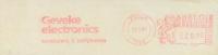 BELGIË/BELGIQUE :1987:  Red Postal Metermark On Fragment : ##Geveke Electronics## : ELECTRONICS,PC,COMPUTER, - Informática