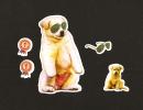 LOT De 6 Chromos Decoupis à Paillettes - Chien  Chiot  Dog  - Superstar - Medaille N°1 - Animals