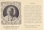 M-0915- Pope Papo -Beato Papa Pio X - Preghiera In Esperanto - Esperanto