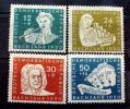 "GERMAN DEMOCRATIC REPUBLIC # B17-B20.  ""BACH YEAR""  MINT VERY LIGHTLY HINGED.(*) - Unused Stamps"
