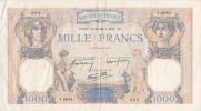 1000  FRANCS,MILLE FRANCS,PARIS,billet De FRANCE,30 Mars 1939,T 6664 Cotée,Cérès Et Mercure - 1871-1952 Circulated During XXth