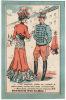 CHROMO Au Bonheur Des Dames Reims Gombert Couple Militaire élégante Femme Chapeau - Cromos
