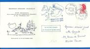 """Marine Nationale - 29240 Brest Naval (1709) E.E. VAUQUELIN - 50eme Anniversaire Cdt Charcot - """"Pourquoi Pas"""" 1986 - Seepost"""