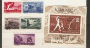 EGYPT - 1961 REVOLUTION 9th ANNIVERSARY & 5-YEAR PLAN SET & S/S MNH **  SG 660-665 - Unused Stamps