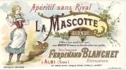 ETIQUETTE APERITIF LA MASCOTTE.  ALBI - Publicités