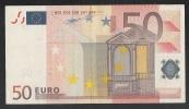EURO - GERMANIA - 2002 - RARA BANCONOTA DA 50 EURO DUISENBERG SERIE X (P005D3) - CIRCOLATA - IN BUONE CONDIZIONI. - EURO
