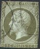 # France 12a, Used, Bronzegreen, Sound (fr012a-2, Michel 10b, Bronzolive [16-IE - 1853-1860 Napoleon III
