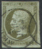 # France   12a,  Used, Bronze Olive, 4 Margins  (fr012a-3,  Michel 10b, Bronzolive  [16-IE - 1853-1860 Napoleon III