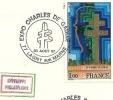"""CDG 37 """" Exposition Charles De Gaulle """"  77 - LAGNY  Le 30 AOUT 1987 - De Gaulle (Général)"""