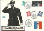 """CDG 40 """" EXPOSITION DES TIMBRES DE LA LIBERATION """" 13 - MARSEILLE LE 11/11/83 - De Gaulle (Général)"""
