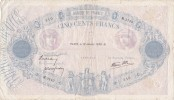 BILLET DE FRANCE,PARIS  LE 12 JANVIER 1939,veille De Guerre,bleu Et Rose,500 FRANCS,billet Coté - 500 F 1888-1940 ''Bleu Et Rose''