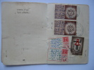 Israel Driving Licence 1949 - 1945 5 Timbres Revenues Revenue Stamps - Documents Historiques