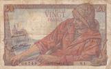 BILLET DE FRANCE,20 Francs 12 Février 1942,plaine 2 ème  Guerre,pecheur,et Famille Française - 1871-1952 Circulated During XXth