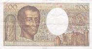 BILLET DE FRANCE,200 FRANCS,MONTESQUIEU,1989,bonne Année - 1962-1997 ''Francs''