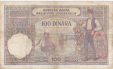 BLLET ANCIEN ,100 DINARA,1929,époque Yougoslavie,NARODNA BANKA,KRALJEVINE JUGOSLAVIJE - Yugoslavia