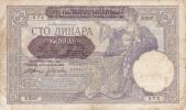 BLLET ANCIEN ,100 DINARA,1941,époque Yougoslavie,NARODNA  BANKA   KRALJEVINE JUGOSLAVIJE - Yougoslavie