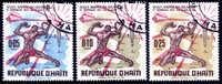Haïti : 28-10-1968 (OBL)  Mich : 975-977  Yv : 615-617 - Haïti