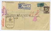 South Africa: Registered Cover From Durban Natal To Bombay India 1943, Sensor Opened - Afrique Du Sud (...-1961)