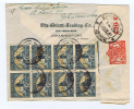South Africa : Airmail Cover  Johannesburg-> Bombay India  , Censor Opened , 10 Stamps Block Of 8 - Afrique Du Sud (...-1961)