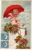 AK ENGEL Mit Einem Regenschirm OLD POSTCARD  1931 - Angeles