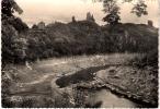 CP .  CROZANT .  LES  RUINES , L'HOTEL ,pendant La Vidange Du Lac ,ete 1954. BE - Crozant