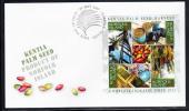 Norfolk Island Scott #907 FDC Souvenir Sheet Of 4 Kentia Palm Seed Harvest - Ile Norfolk