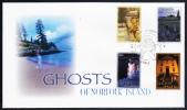 Norfolk Island Scott #908-11 FDC Set Of 4 Ghosts Of Norfolk Island - Ile Norfolk