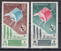 New Hebrides 1965 Space ITU Set Of 2 MNH -scarce- - Raumfahrt