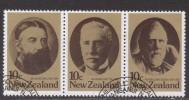 NZ ~ Statesmen (Strip Of 3) ~ SG 1185a ~ 1979 ~ Used - New Zealand